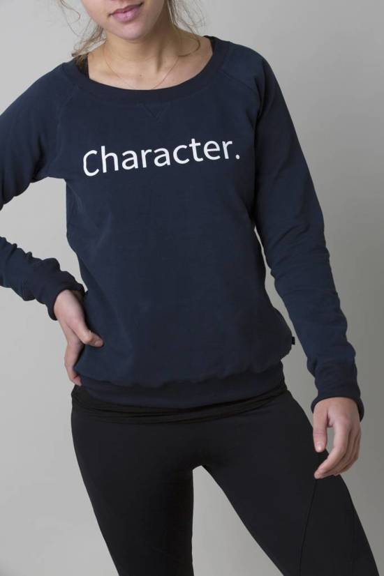 More Than Character- Sweater Print Dark Blue