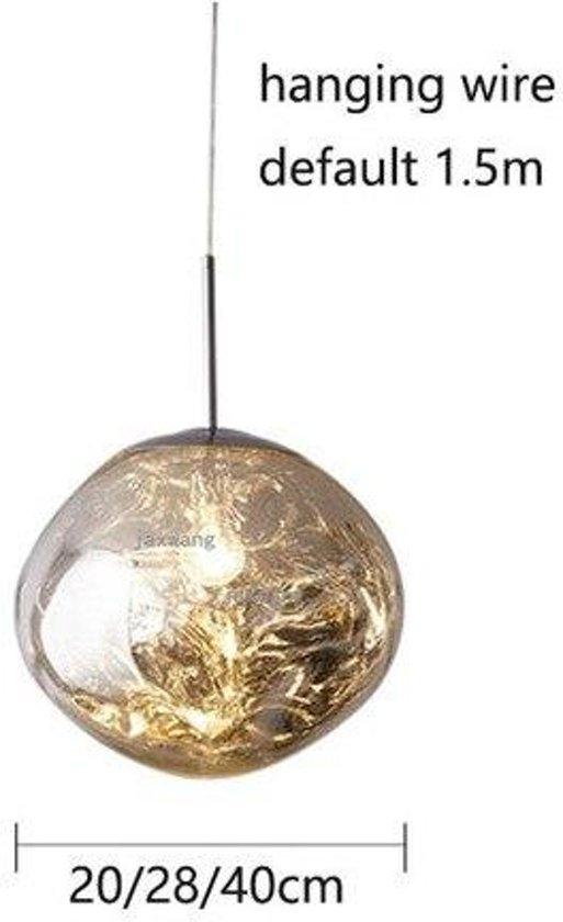Hanglamp Nordic LED-verlichting Verlichtingsarmaturen Loft Kroonluchter Persoonlijkheid Bar Lustre Kroonluchter Suspension Armatuur Keukenaccessoires - Silver / 28CM
