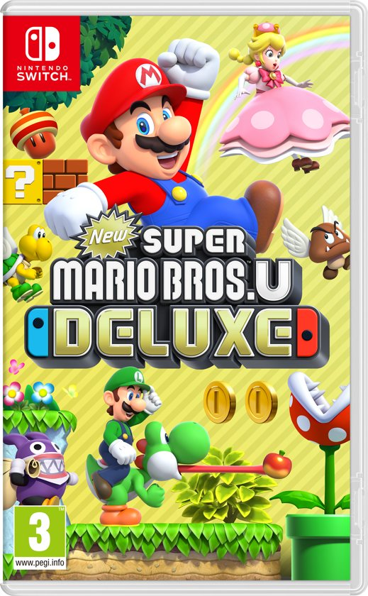 Cover van de game New Super Mario Bros. U Deluxe - Switch