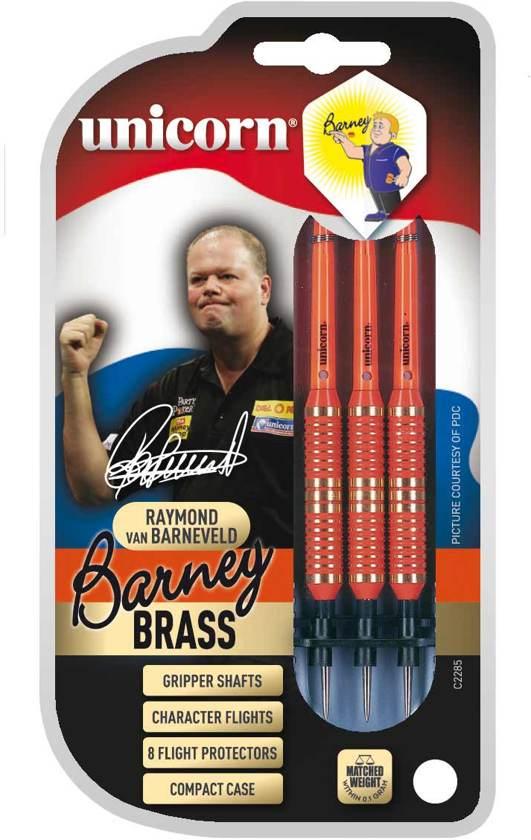 Unicorn Brass Orange Barney steeltip dartpijlen