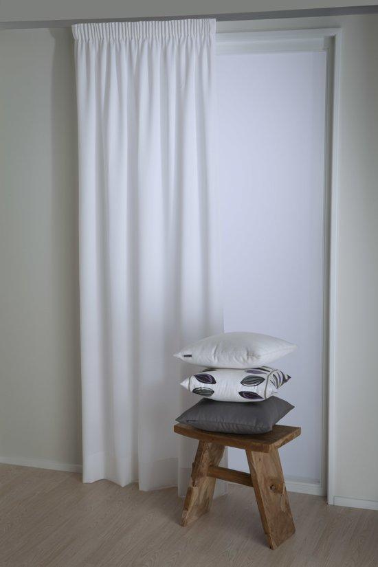 tweedo kant en klaar gordijn wit 140x270 cm per stuk