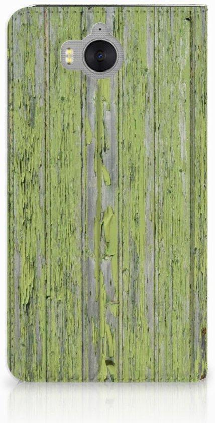 Huawei Y5   Y6 2017 Standcase Hoesje Design Green Wood