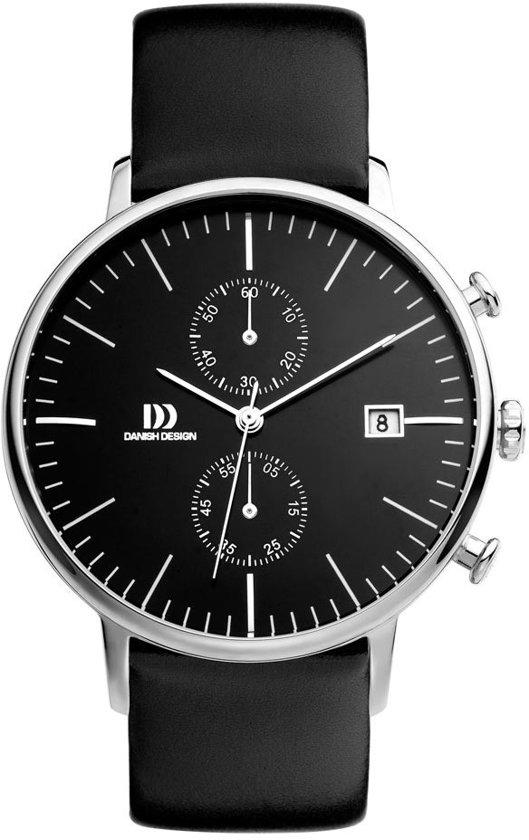 Danish Design IQ13Q975 horloge heren - zwart - edelstaal