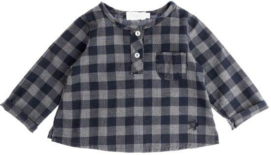 Tocoto Vintage Baby Plaid Shirt Navy-12 - 18 m