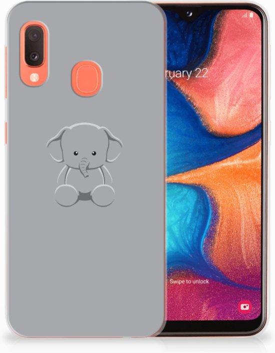 Samsung Galaxy A20e TPU Hoesje Baby Olifant
