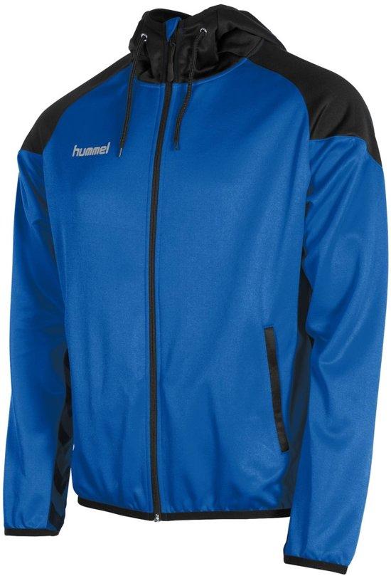 Hummel Authentic Full Zip Hoodie  Trainingsjas - Maat M  - Unisex - blauw/zwart