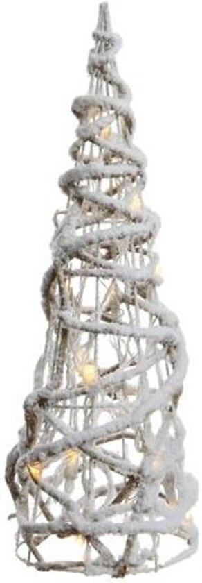 LED kegel gedraaid sneeuw 23x23x90cm-48L Valentinaa