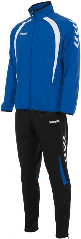 Hummel Team Poly  Trainingspak - Maat L  - Mannen - blauw/zwart/wit