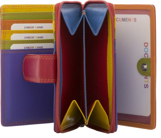 1886e1e1b79 bol.com | BURKELY Multicolour - Portemonnee - Rood Multi