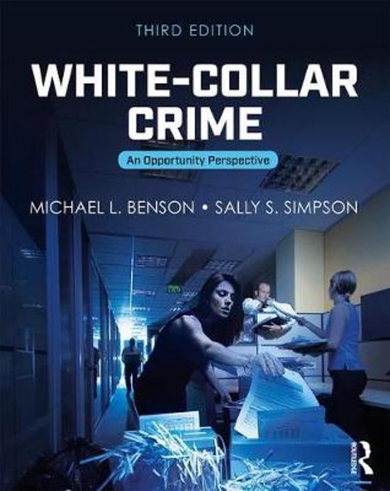 Boek cover White-Collar Crime van Michael L. Benson (Paperback)