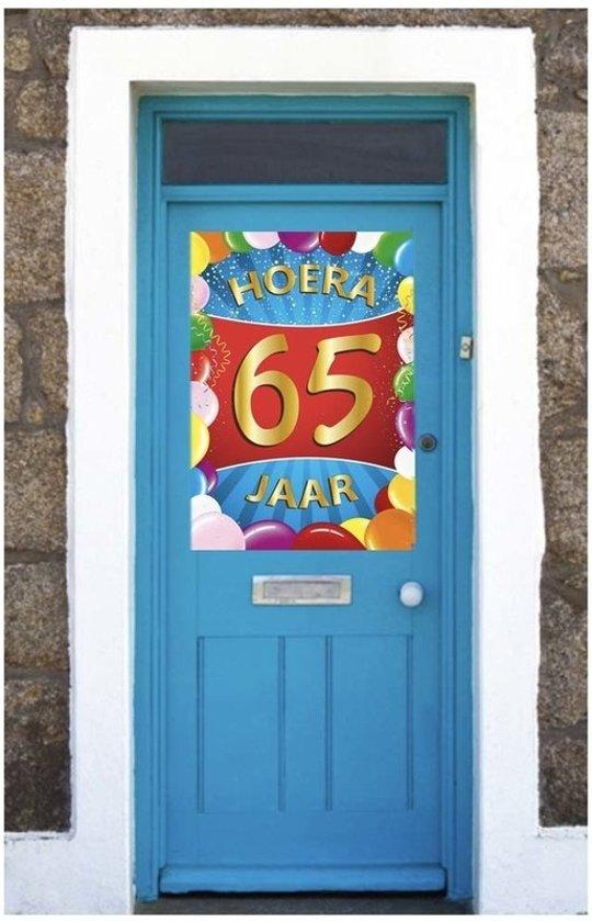 65 jaar mega deurposter