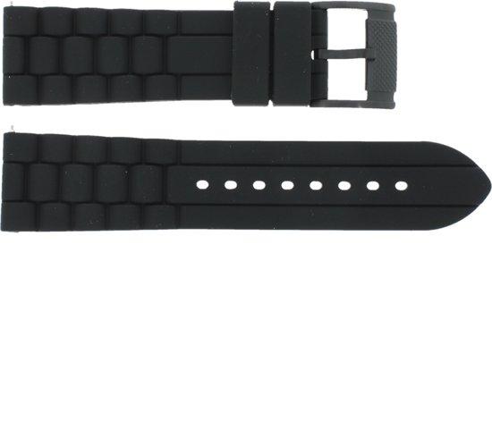 Fossil horlogeband FS4487 / FS4628 / FS4605 Silicoon Zwart 24mm