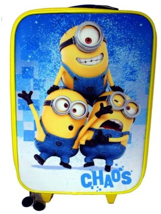 "Minions ""Chaos"" Trolley Kinderkoffer - 40 cm - Geel/Blauw"