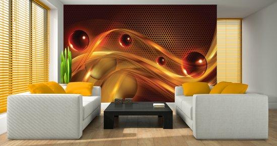 Fotobehang Design | Bruin, Oranje | 152,5x104cm