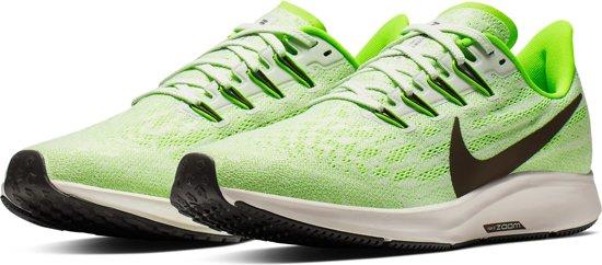 Nike Air Zoom Pegasus 36 Heren Sportschoenen - Phantom/Ridgerock-Electric Green-Moon Particle - Maat 44.5