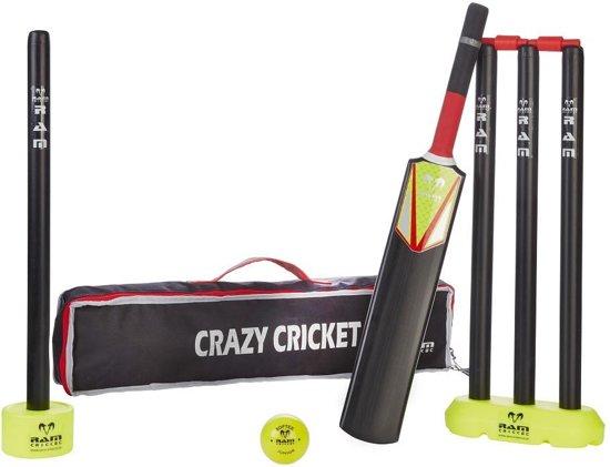 Cricketspel, Kricketset uit kunststof. Compleet & in mooie tas