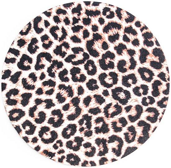 Muismat Rond Panterprint| Muismat Rubber | Mousepad 20 x 20 cm |