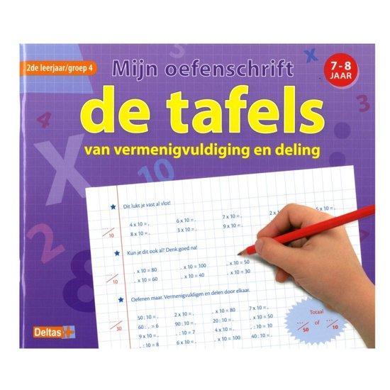 Boekomslag van 'Mijn oefenschrift De tafels 7-8 jaar groep 4'