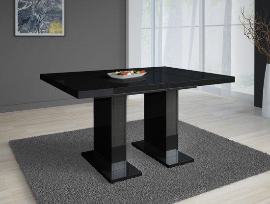 Zwarte Eettafel Uitschuifbaar.Meubella Eettafel Eetkamertafel Glamour Uitschuifbaar Zwart 120 160 Cm