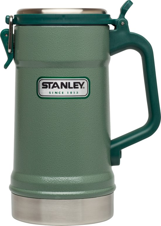 Stanley Classic Vacuum Stein Thermosbeker - 700 ml - RVS - Hammertone Green
