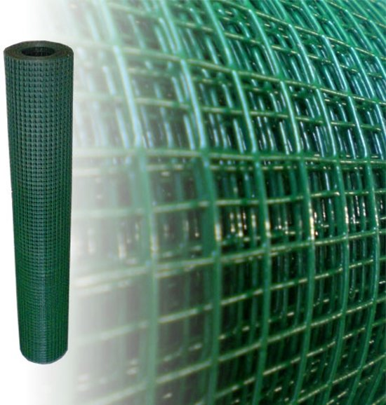 Voliere gaas 12 x 12mm 1,05mm 100cm x 10m Groen