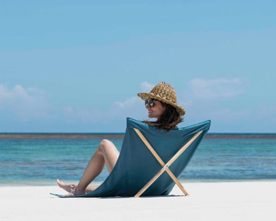 Pro Beach Strandstoel.Strandstoel Opvouwbaar Canvas Grenen Beach Chair Beach Lounger Petrol