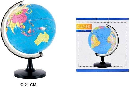 wereldbol op standaard 21 cm