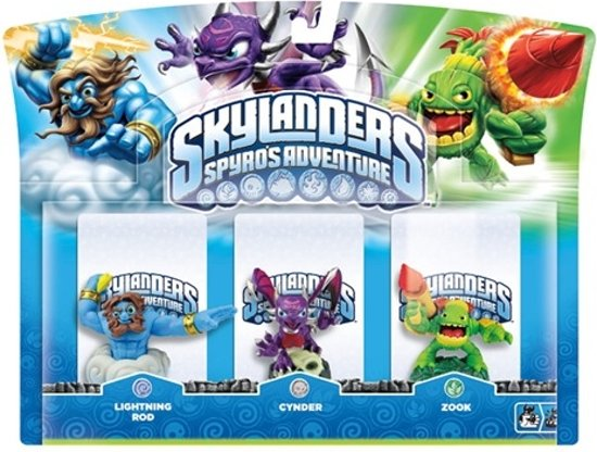 Skylanders Spyro's Adventure: Triple Pack Lightning Rod, Zook, Cynder