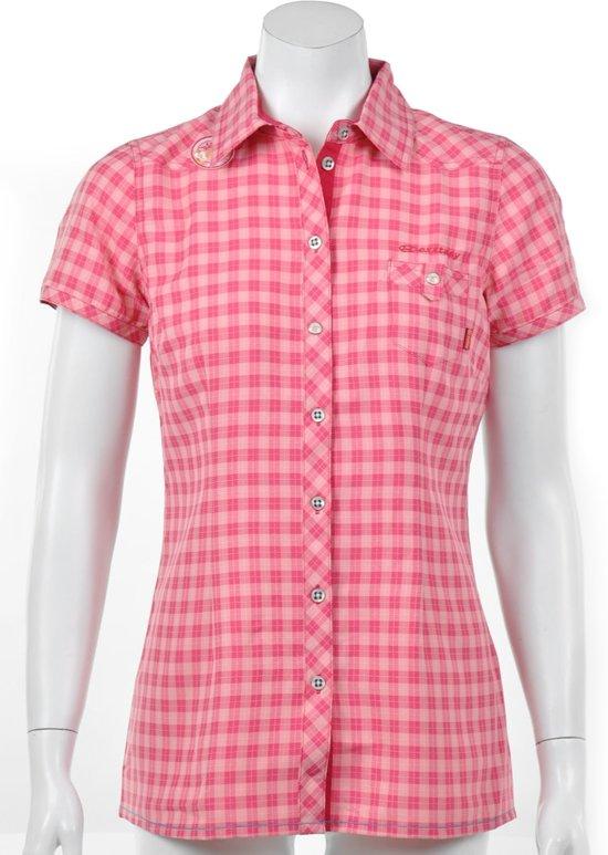 Exxtasy Dumont - Outdoorshirt -  Dames - Maat 38 - Roze;Wit