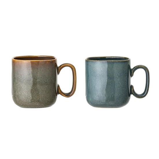 Bloomingville - Aime Mok Stoneware L9xH10xB9 cm, 2 Ass Br Gr