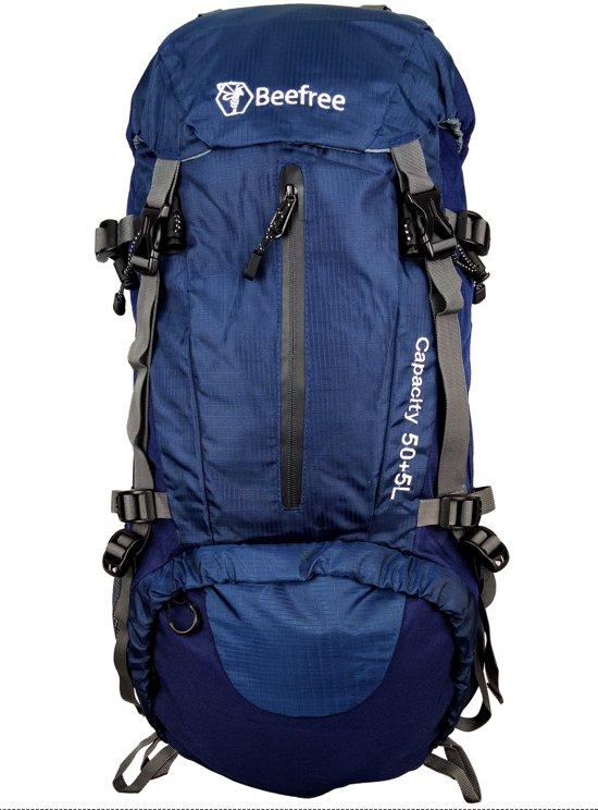8fb8e2e0452 bol.com   Beefree 55 Liter nylon Backpack Blauw  Inclusief regenhoes