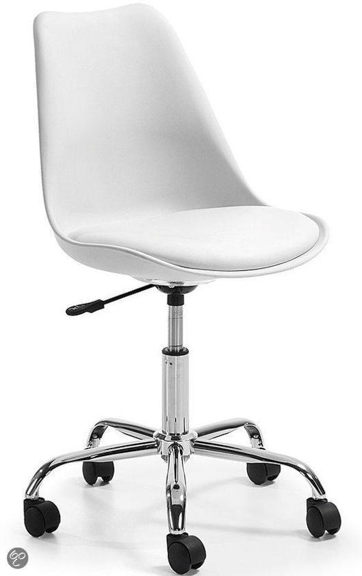 Laforma orlando bureaustoel wit for Sillas de escritorio blancas