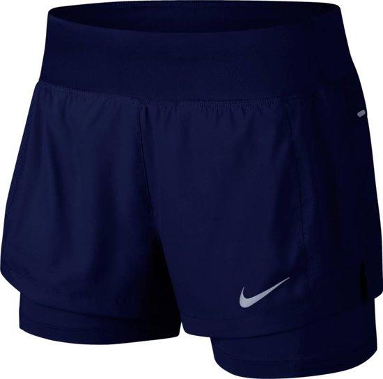 Nike Eclipse 2In1 Short Sportbroek Dames - Blue Void/Blue Void - Maat XL