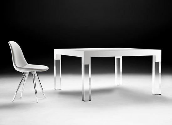 Eettafel Wit Design.Bol Com Kubikoff Mies Eettafel Wit 90x200 Cm