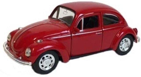 Speelgoed Volkswagen Kever Rode Auto 12 Cm