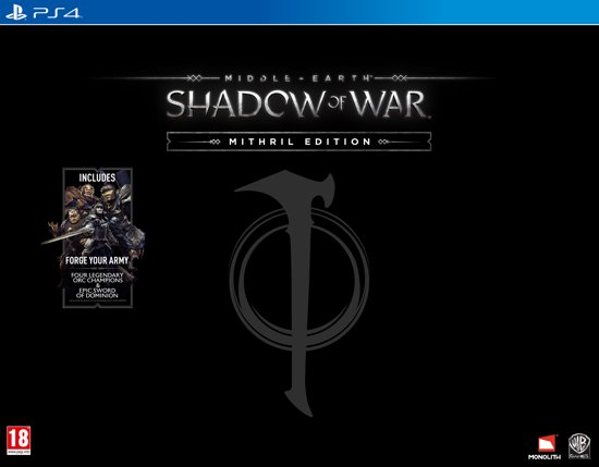 Middle-Earth: Shadow Of War - Mithril Edition - PS4