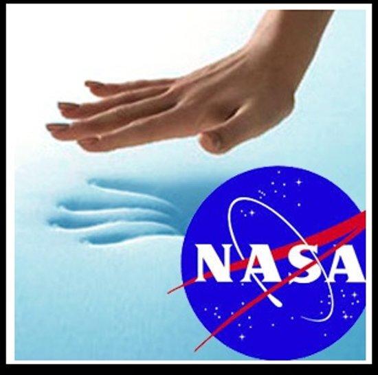 Topdekmatras 140x200 NASA Traagschuim Topper 6cm dik