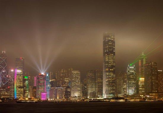 Fotobehang Hong Kong Island|Poster - 104cm x 70.5cm|Premium Non-Woven Vlies 130gsm