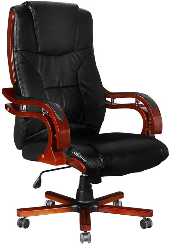 Vidaxl directie s220 bureaustoel zwart stoelen for Bureau stoel