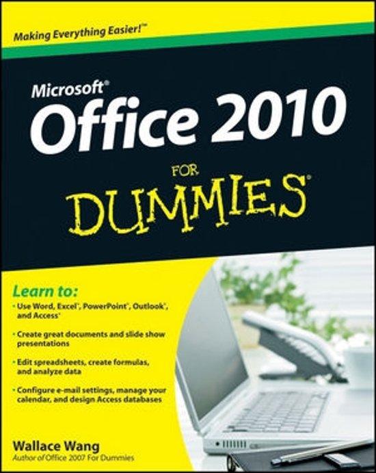 Boek cover Office 2010 For Dummies van Wallace Wang (Paperback)