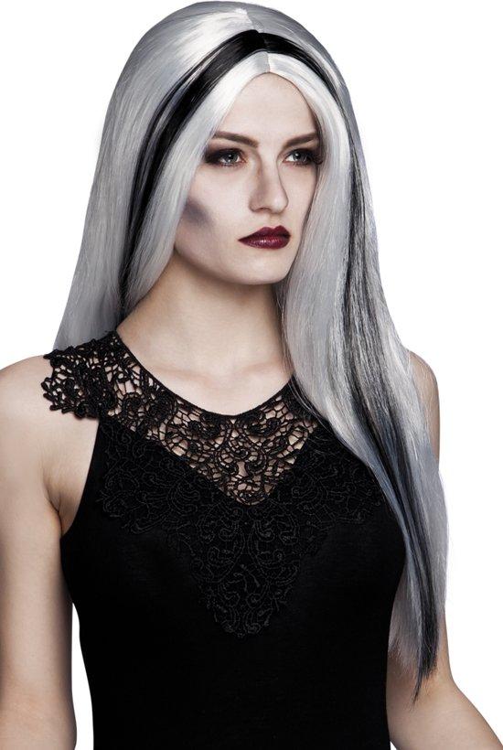 Halloween Pruik Aurora - Grijs
