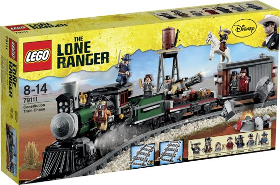LEGO Lone Ranger Constitutie Treinachtervolging - 79111