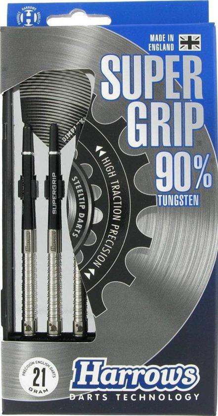 Harrows Dart Set Supergrip 90% Tungsten 21 Gram Zwart/zilver