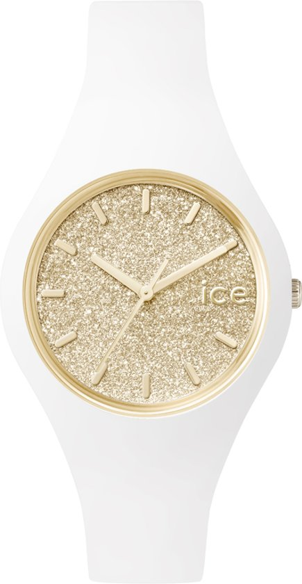 Ice-Watch Ice Glitter Small - Horloge - Siliconen - 34 mm - Wit