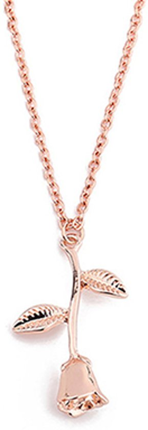 24/7 Jewelry Collection Roos Ketting - Bloem - Róse Goudkleurig
