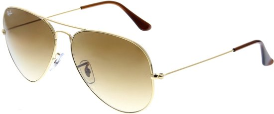 Ray-Ban RB3025 001/51 - Aviator (Gradiënt) - zonnebril - Goud / Lichtbruin Gradiënt - 58mm