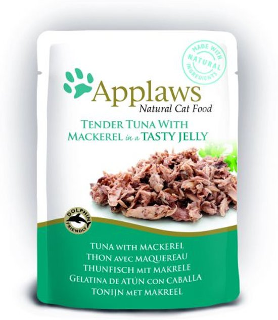 Applaws cat jelly tuna wholemeat / mackerel kattenvoer 70 gr