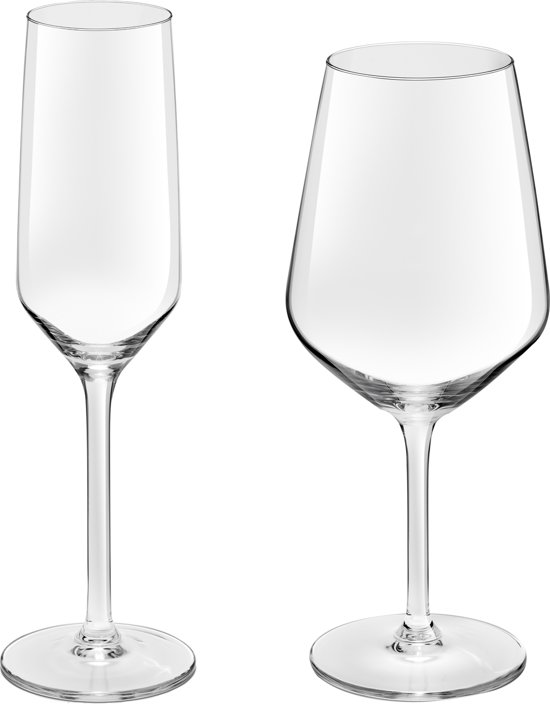 Royal Leerdam Twins Champagneset - 8-delig