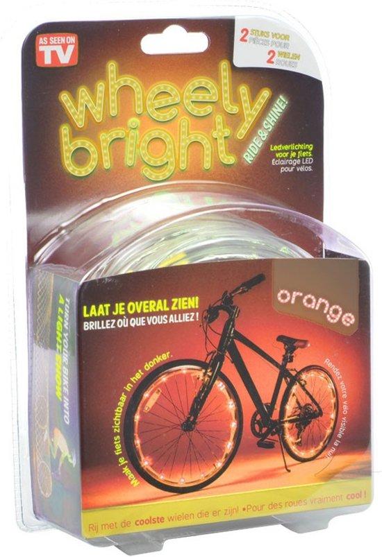 wheely bright fietswielverlichting oranje 2 stuks