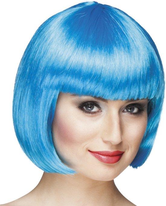 Pruik Cabaret ijsblauw